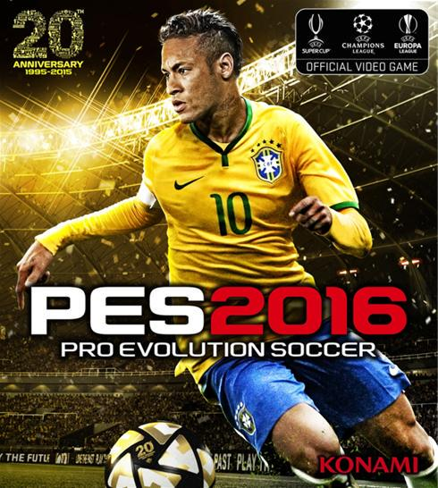 PES 2016 Cover Art - Neymar - KONAMI - 20th Winning Eleven/Pro Evolution Soccer [image by @PES_ID]
