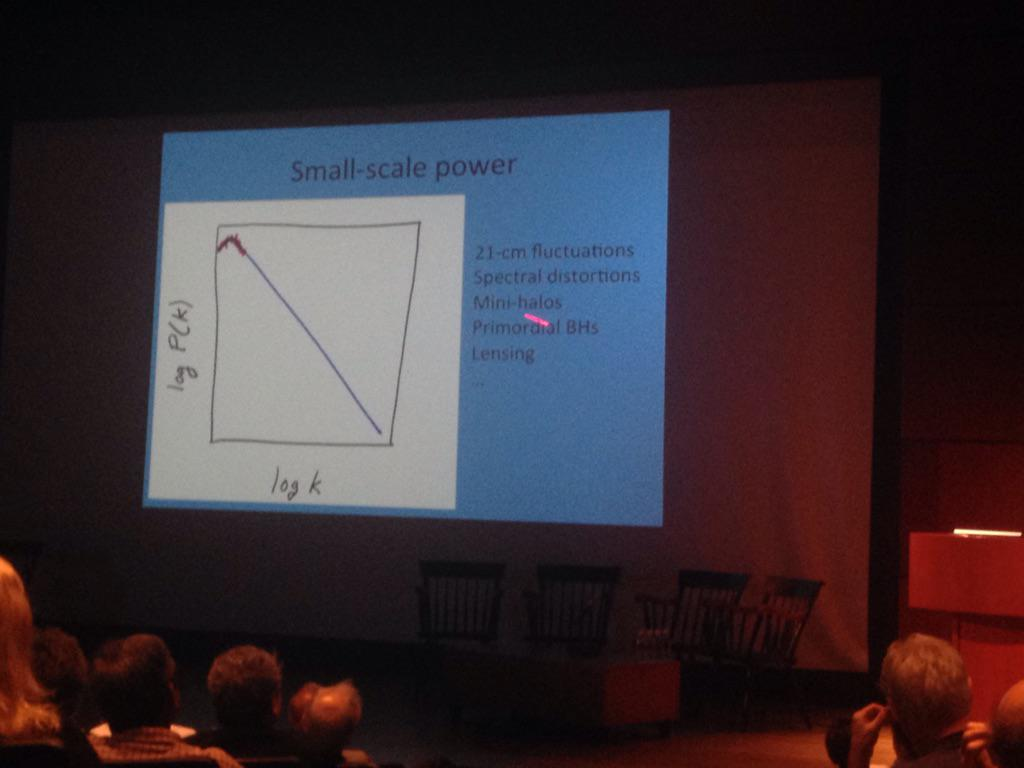 Kamionkowski: constraining small scale power constrains on these departures (Grin, Chluba, Erikchek) #CMBat50 http://t.co/Bz64AFRMb9