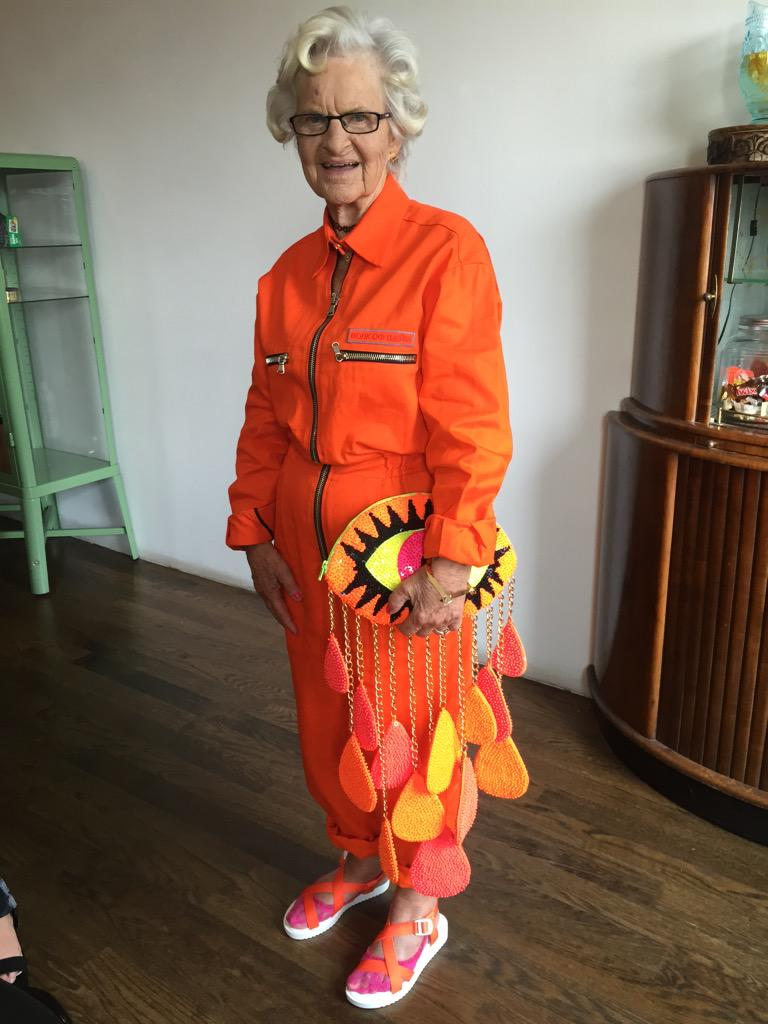 "Putting the ""bad"" in badass.  @baddiewinkle at the #OITNB premiere in our STRYYKER sandal. http://t.co/udmMaM4zGL"
