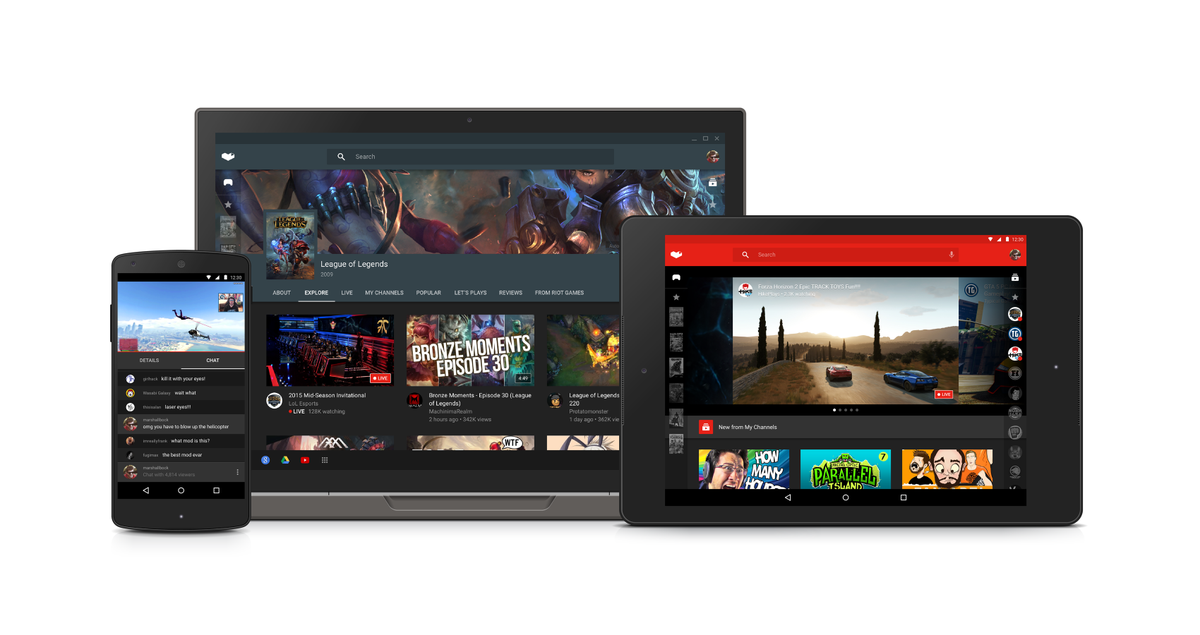 YouTube Gaming iPhone iPad