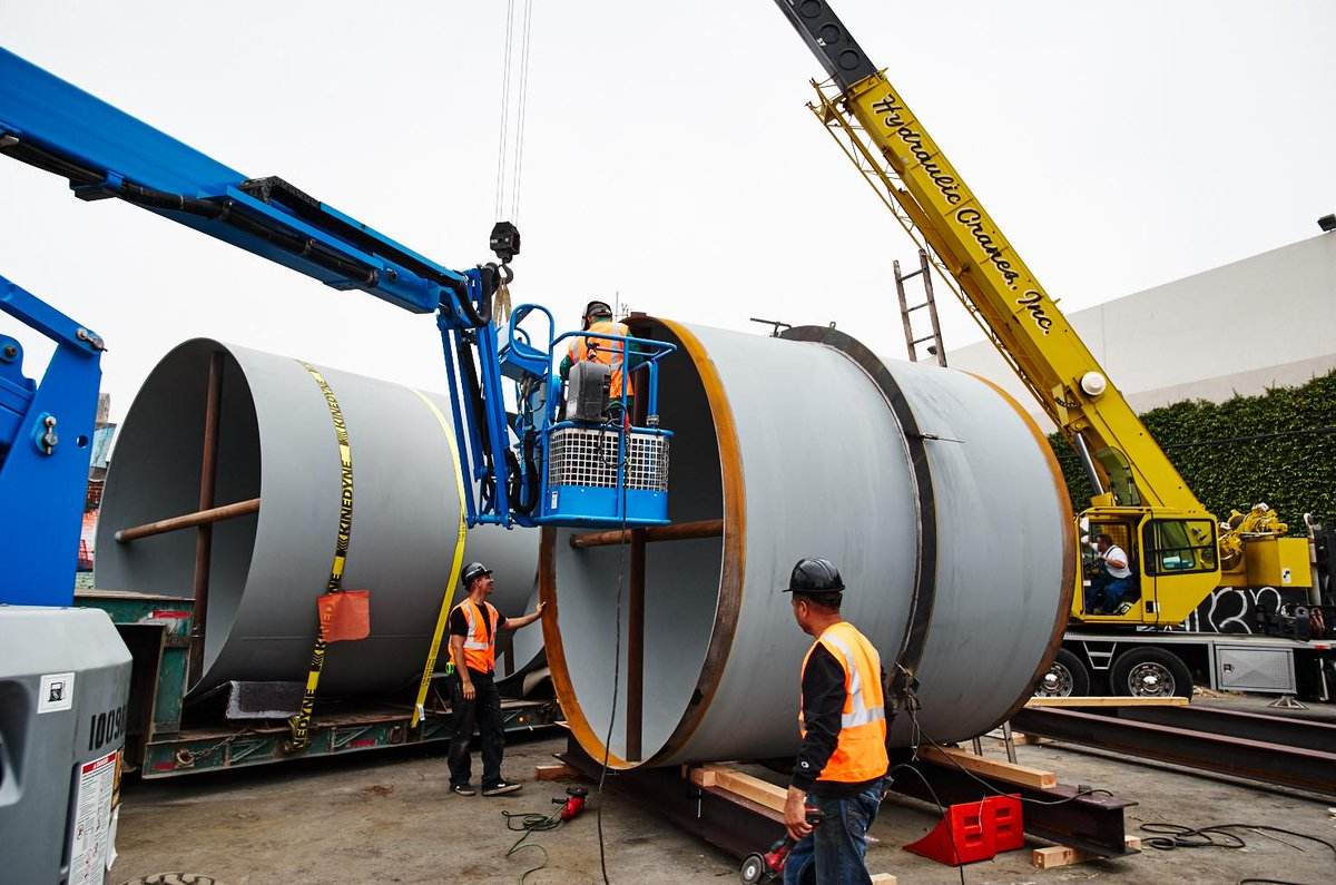 Here are the actual tubes one company plans to use to make the real Hyperloop