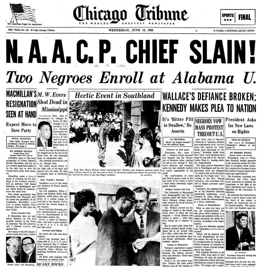 Image result for medgar evers killed