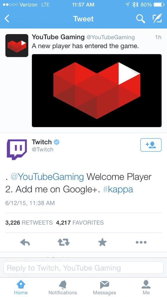 Shots fired! Well played @Twitch http://t.co/uJ5li8J1DS