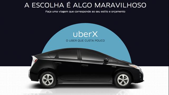 UberX, uma categoria mais barata do Uber, chega hoje ao Brasil: http://t.co/EuxUV6mGS4