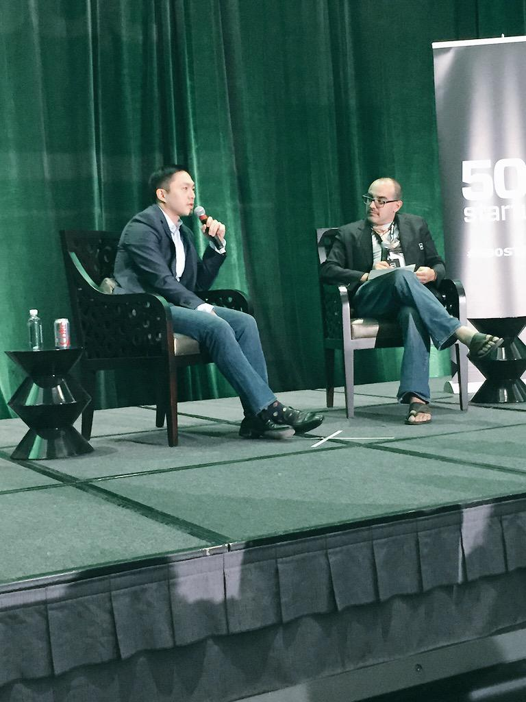 @Alfred_Lin answering tough q's from @davemcclure w/ finesse. #premoney @500Startups @sequoia http://t.co/k9ACH0khXq