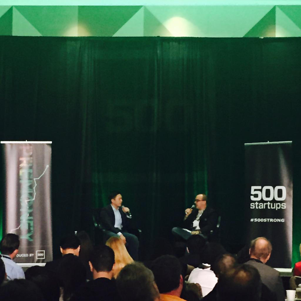 """I think @Sequoia is doing spray & pray but hides it pretty well!"" @DaveMcClure to @Alfred_Lin @500Startups #PreMoney http://t.co/PkAil1xnhJ"