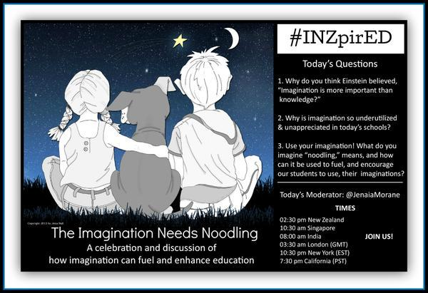 Getting #INZpirEd always requires some Noodling. Join us & get #INZpirED by @JenaiaMorane, @CritterKin author/illus. http://t.co/3ee6w7o6sI