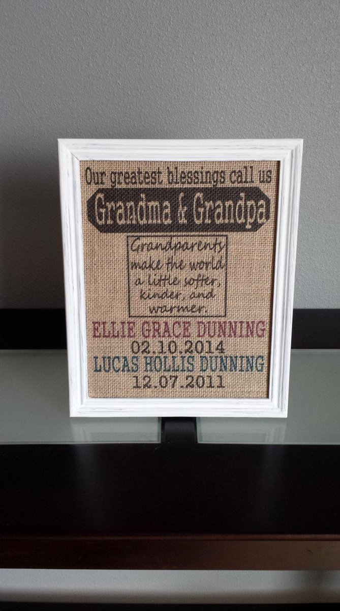 db9137c05 Burlap Print - Our Greatest Blessings Call Us Grandma and Grandpa … ...