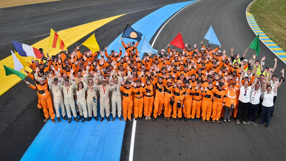 Without the tireless efforts of 1700 track  marshals, there would be no @24hoursoflemans. We salute you.