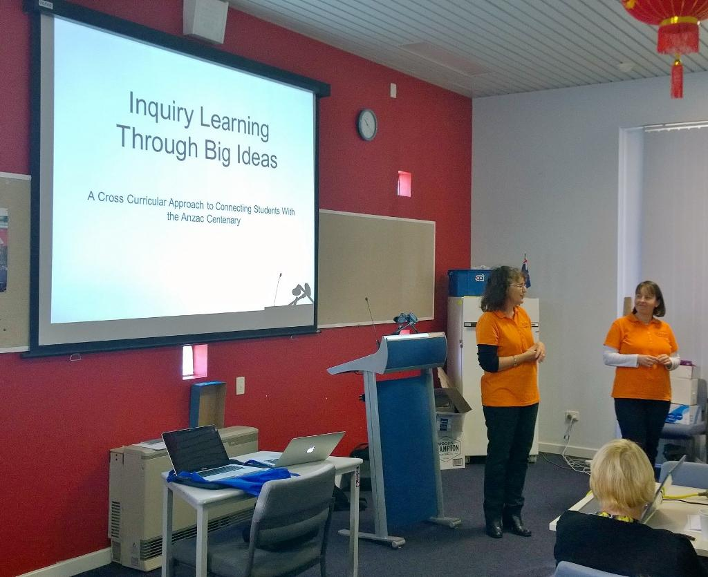 Inquiry Learning thru Big Ideas by Karen on ANZAC #htawa15 No googleable Qs http://t.co/JcUCMpe9l4