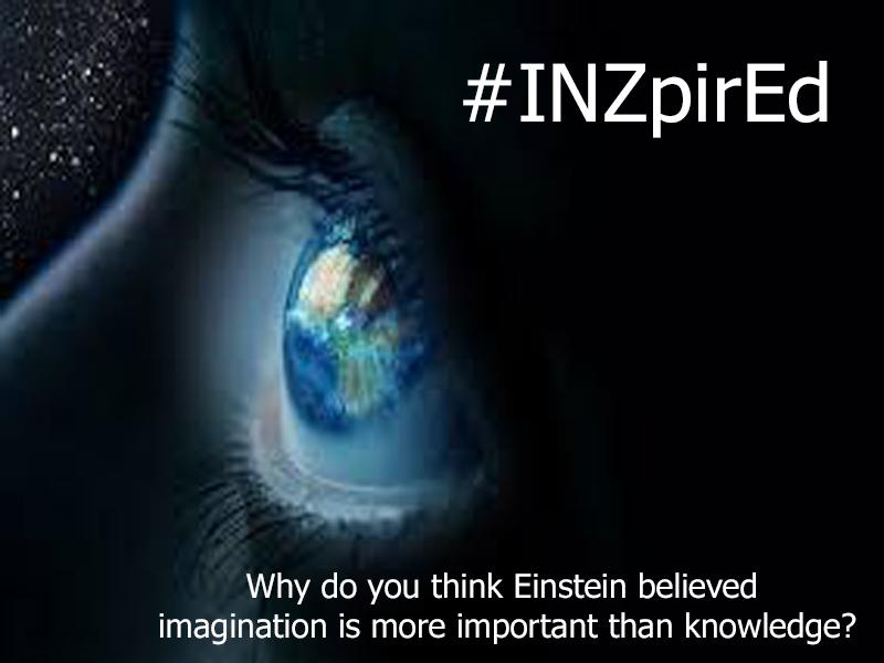 #Inzpired Question #1 Why did Einstein believe imagination was more powerful than knowledge? http://t.co/4ur3LIMQ8N