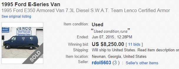 umm did the guy buy his armored van last week? off eBay? #wut http://t.co/oUmdrzt3LP #DallasPDShooting http://t.co/Wif2vbGr1k