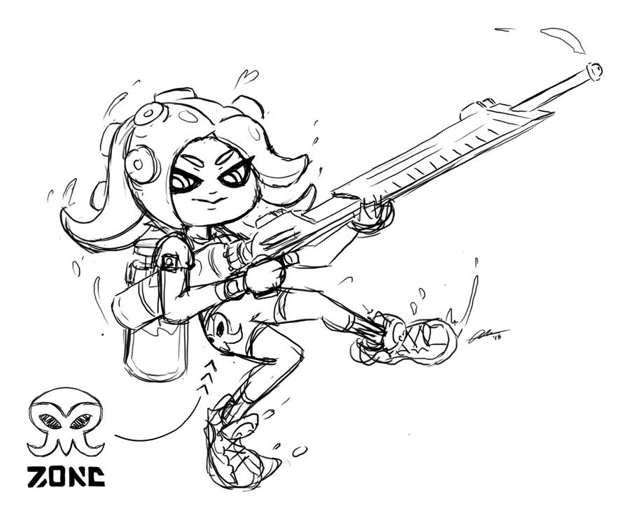 Alpha Gamboa On Twitter Drew An Octoling With Some Fictional Z0ne