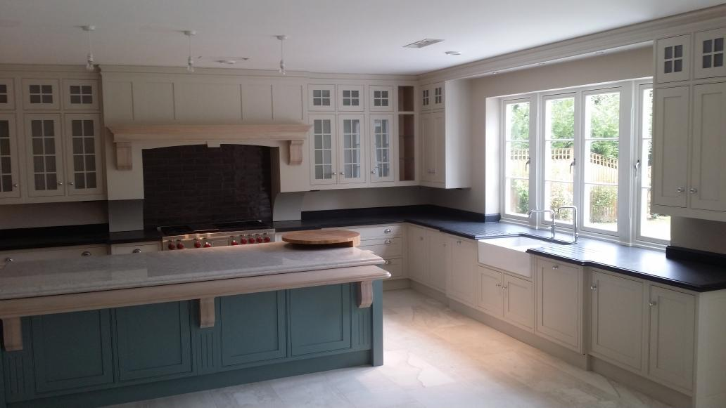 HandpaintedkitchenUK On Twitter Another Kitchen Using Products HolmanPaints Equivalent Colours To Skimming Stone And Oval Room Blue The Island
