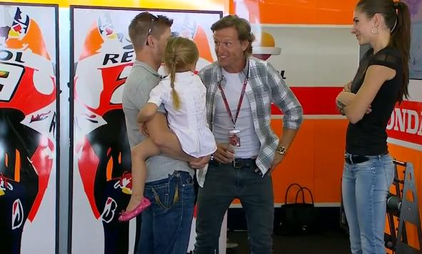 "CRASH.NET/MotoGP on Twitter: ""Sete Gibernau with Casey Stoner and family ahead of qualifying at ..."
