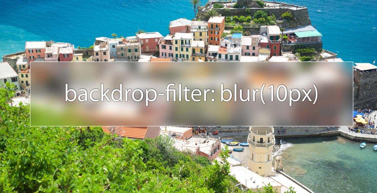 Nice! What's new in webkit? backdrop-filters: ⚡️ https://t.co/h0tRceeHAN  ht/ @simurai http://t.co/KSpSxSZZsR