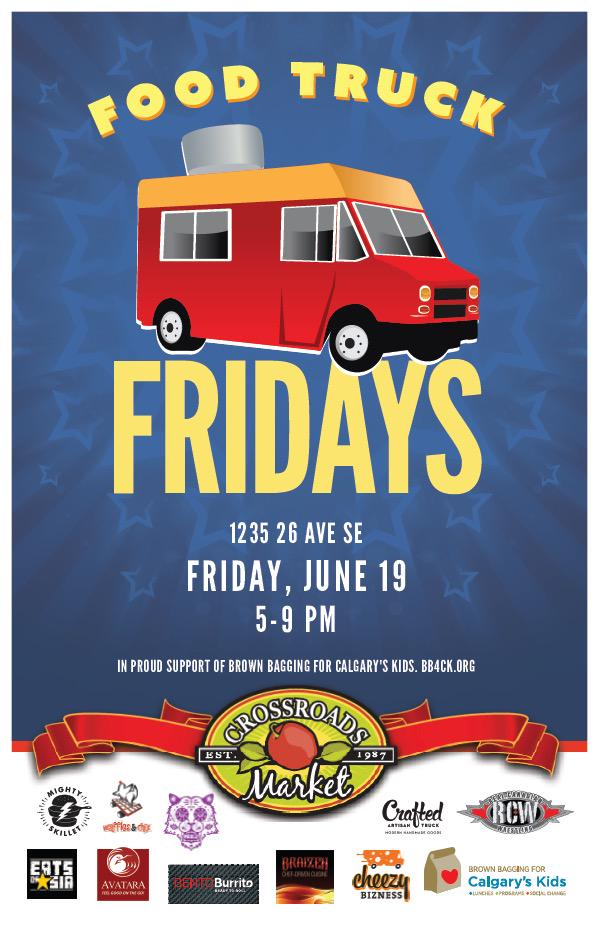 Please join us for our first #FoodTruckFriday @CrossroadsMrkt June 19th! Free event. Supporting @brownbaggingit http://t.co/KLTLmv90Ot