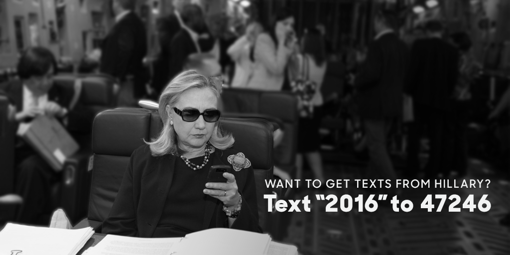 hillary clinton on twitter texts from hillary start today text