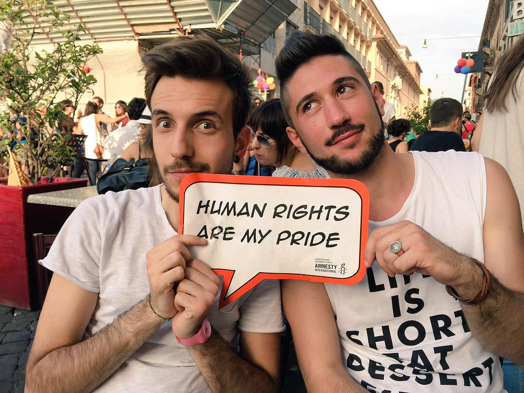 #RomaPride guest star. <br>http://pic.twitter.com/3g5B0Je9BF