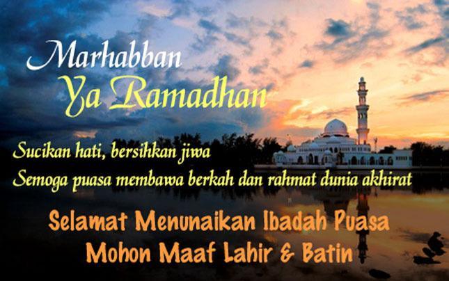Marhabban Ya Ramadhan Ya Syarul Syiam - AnekaNews.net