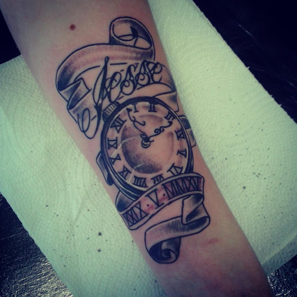"""SinkingIN Tattoos On Twitter: """"Time Piece On My Son For"""