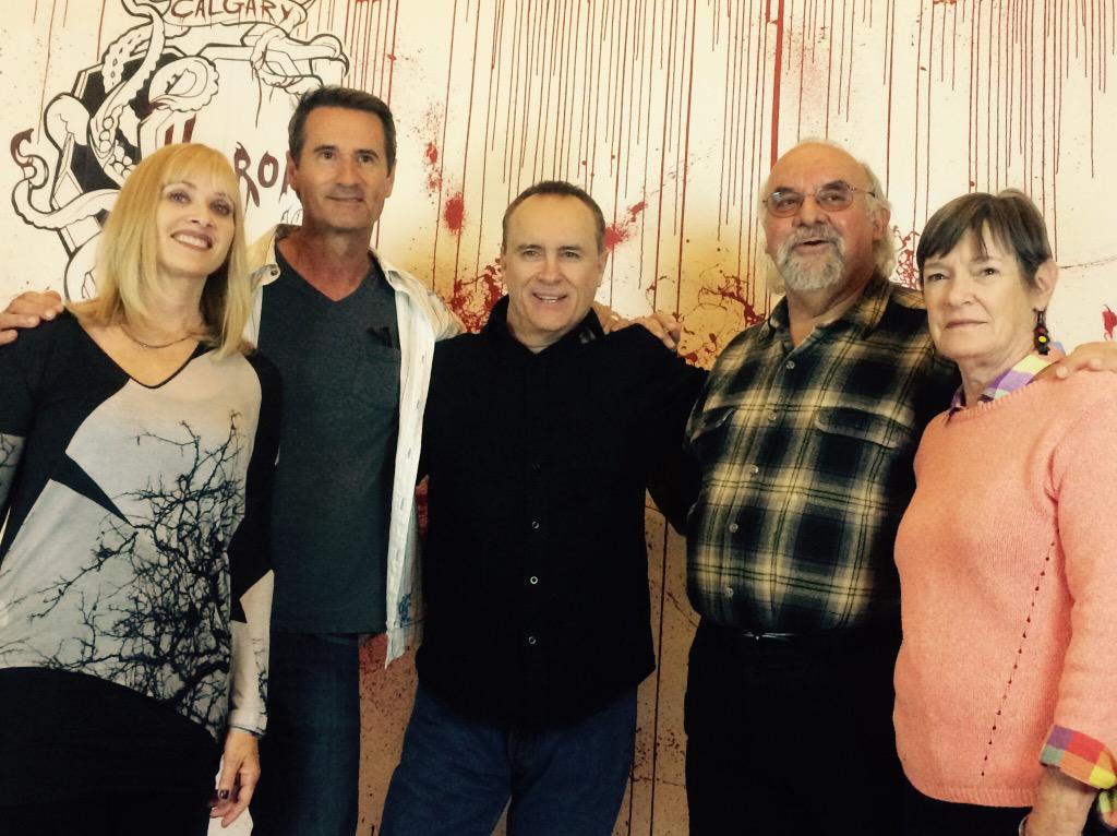 My Re-Animator family. With @jeffreycombs @OfficialSGordon Bruce and Carolyn <3 http://t.co/fNNlkodk8t