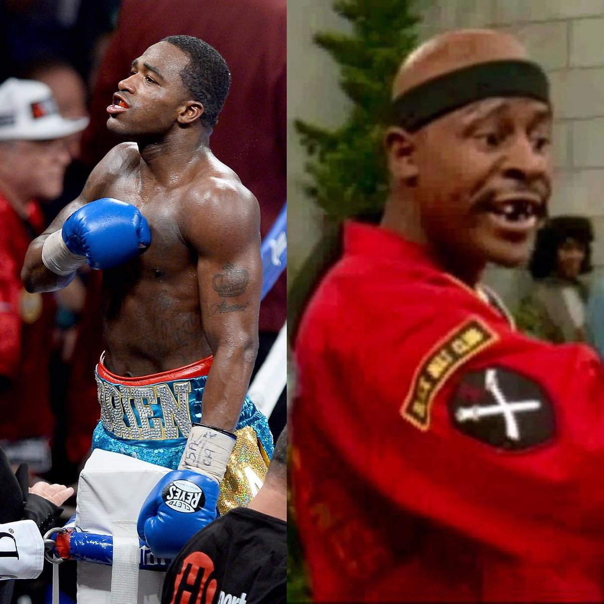 Broner is slowly turning into Dragonfly Jones. Lol. http://t.co/l8uC6OXUQ7