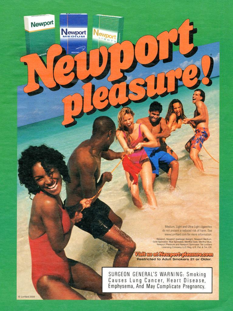 Newport pleasure ad