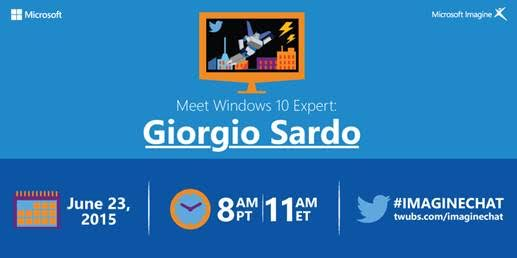 Ready to build for #Win10? Join us 6/23 & get your questions answered by @GiSardo! http://t.co/dqVYmYyEj8 #StudentDev http://t.co/aXtf6EDf4q