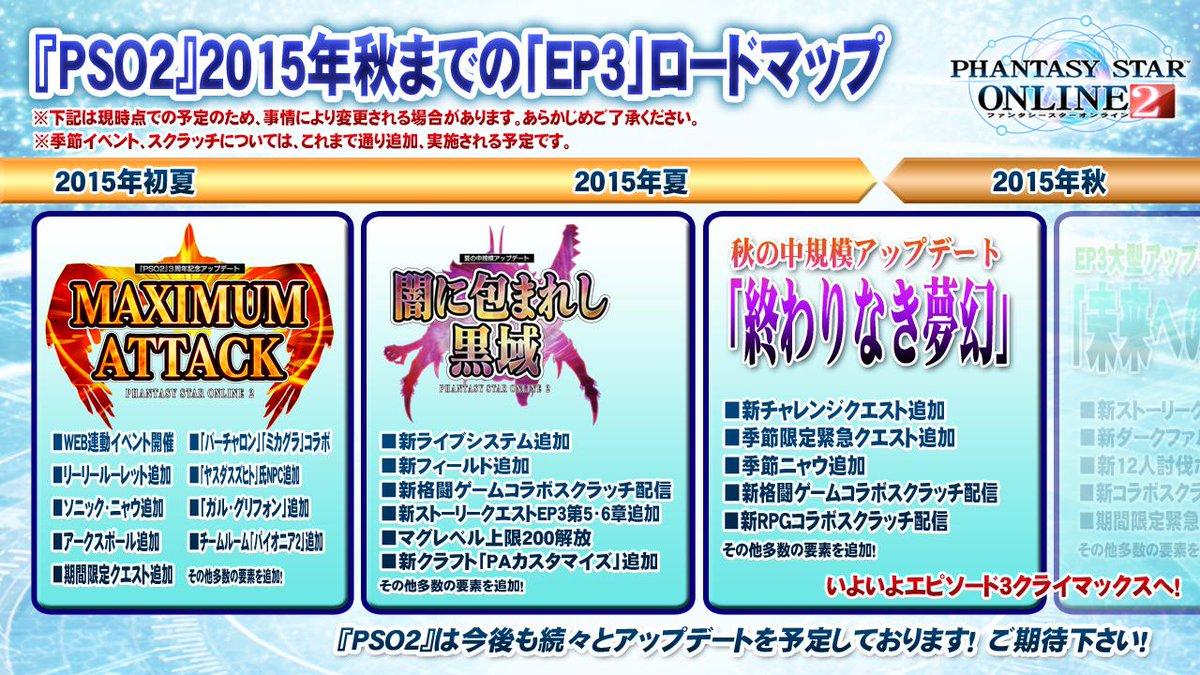 『PSO2』2015年秋までの「EP3」ロードマップを公開!いよいよエピソード3はクライマックスへ!