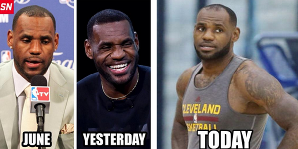 @TheJonasKnox Weird ass thing was how LeBron's receding hairline disappeared & then reappeared much worse a day later http://t.co/WsklKCcxaV