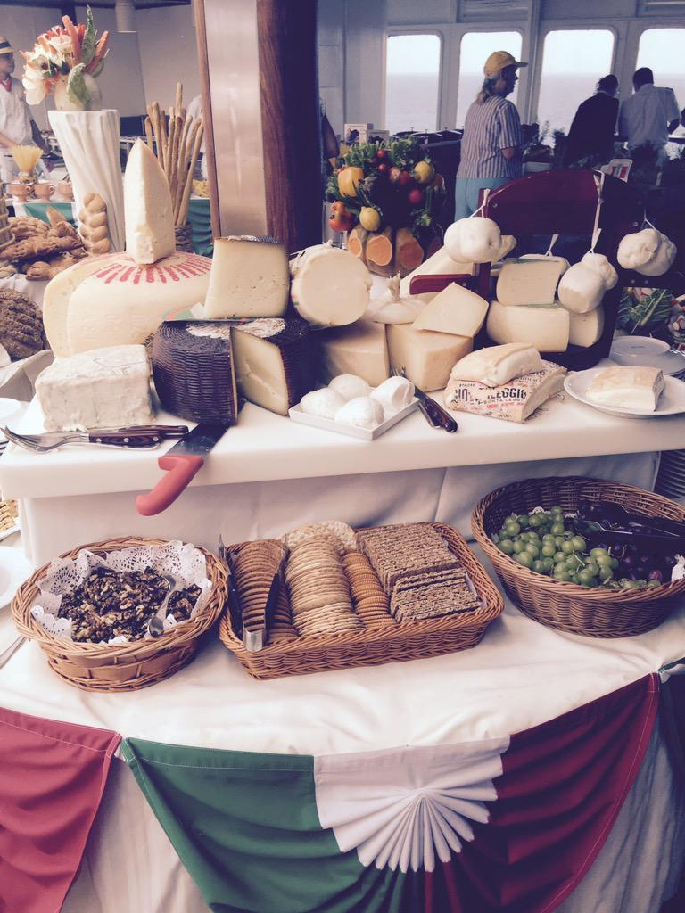 Who's up for a bit of cheese #italianstyle #lastnight @SagaUK @philvickerytv @edbaineschef #lovedit http://t.co/N42M24tqVx