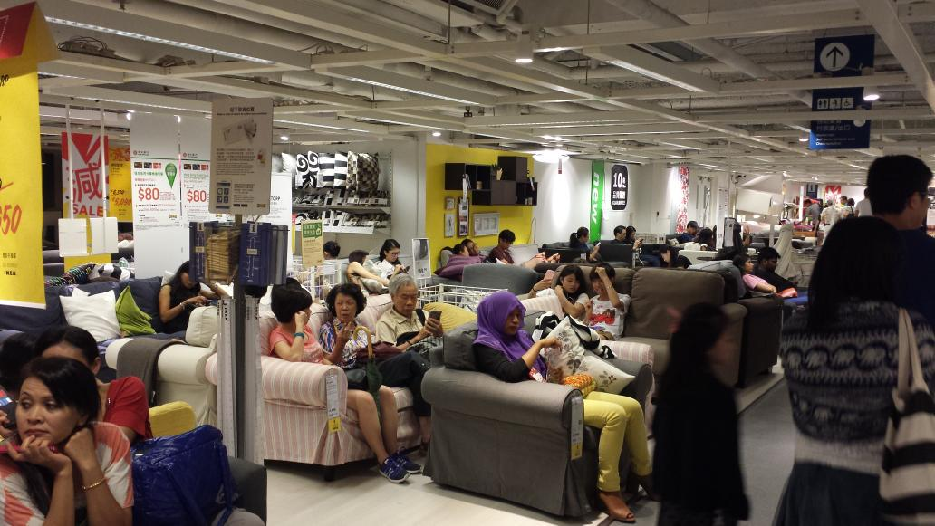@Ikea in #HongKong = public resting ground lol. #IkeaHongKong http://t.co/ON7SOCWYTn