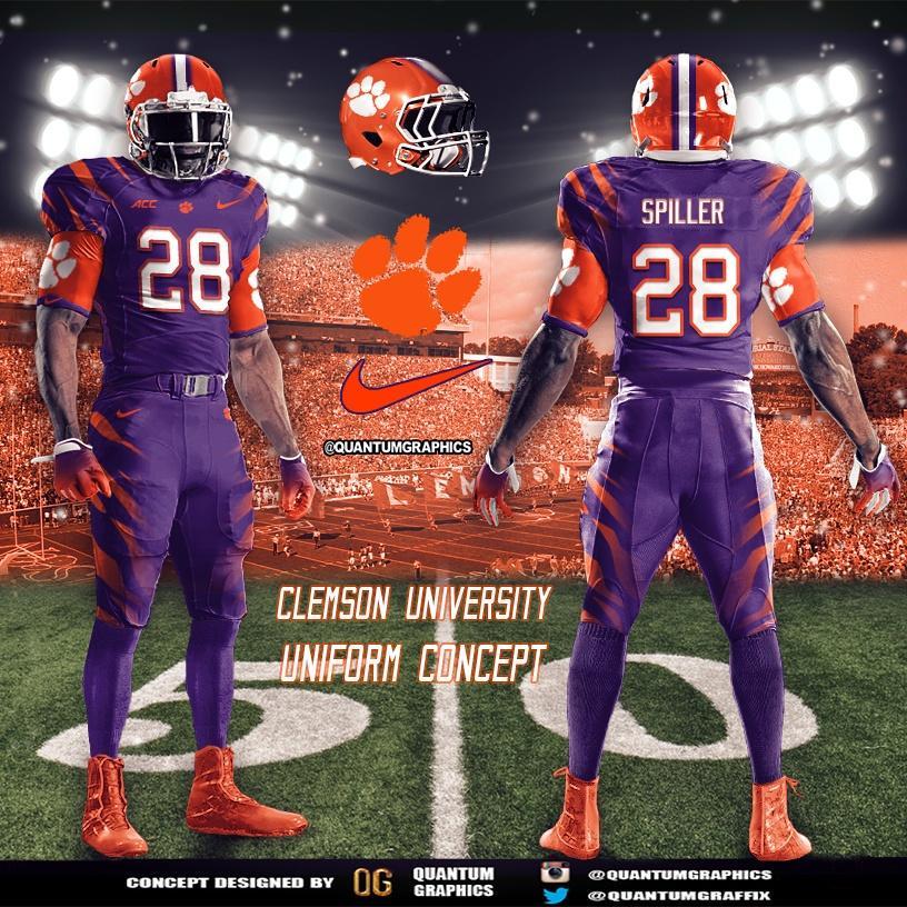 Quantum Graphics On Twitter Clemson Tigers Uniform Concept