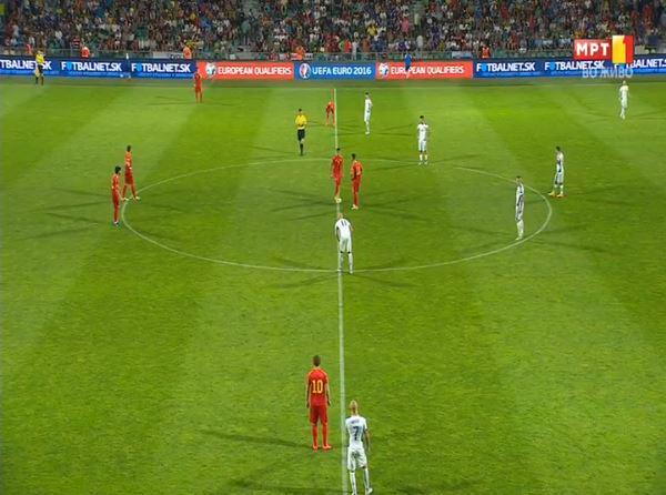 Macedonia kicks-off the 2nd half