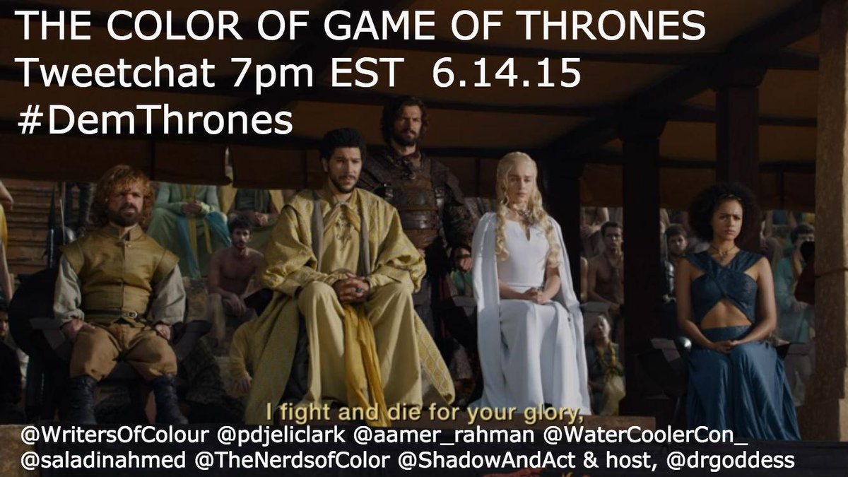 Thumbnail for The Color of @HBO's #GameofThrones Tweetchat #DemThrones