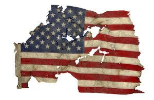 This flag was recovered from the World Trade Center after the September 11 terrorist attacks. #FlagDay http://t.co/r58LOWRjrN