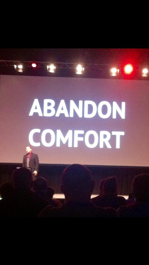 .@SusanLJones Inspiring words from @JeffCharbonneau last year at #ISTE2014 ~ Really stuck w/ me. #txeduchat http://t.co/M5Wiv33SN1