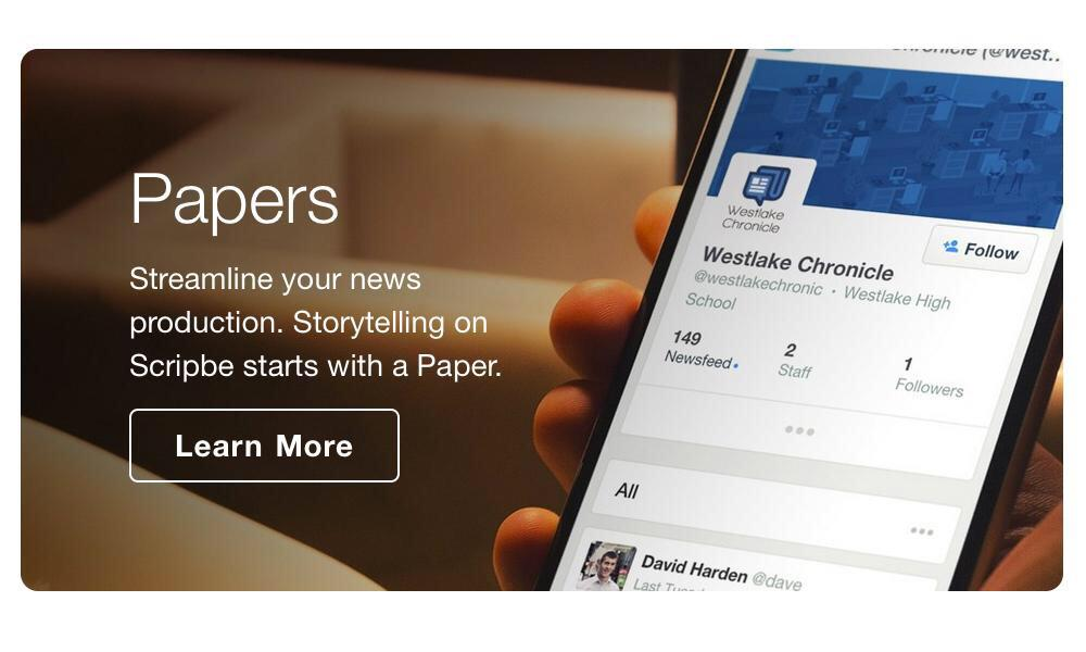 One platform, unlimited scholastic newspapers. Join Scripbe. https://t.co/LmeGVKCZBi #txeduchat http://t.co/lJ86ZXjGC3