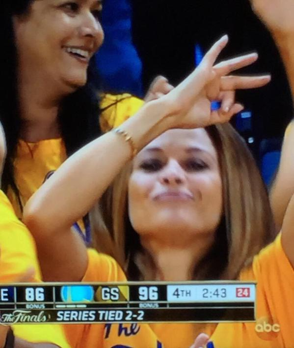 When you know you gave birth to the MVP and the greatest shooter of all time! #DubNation http://t.co/zEhv5DmcUI