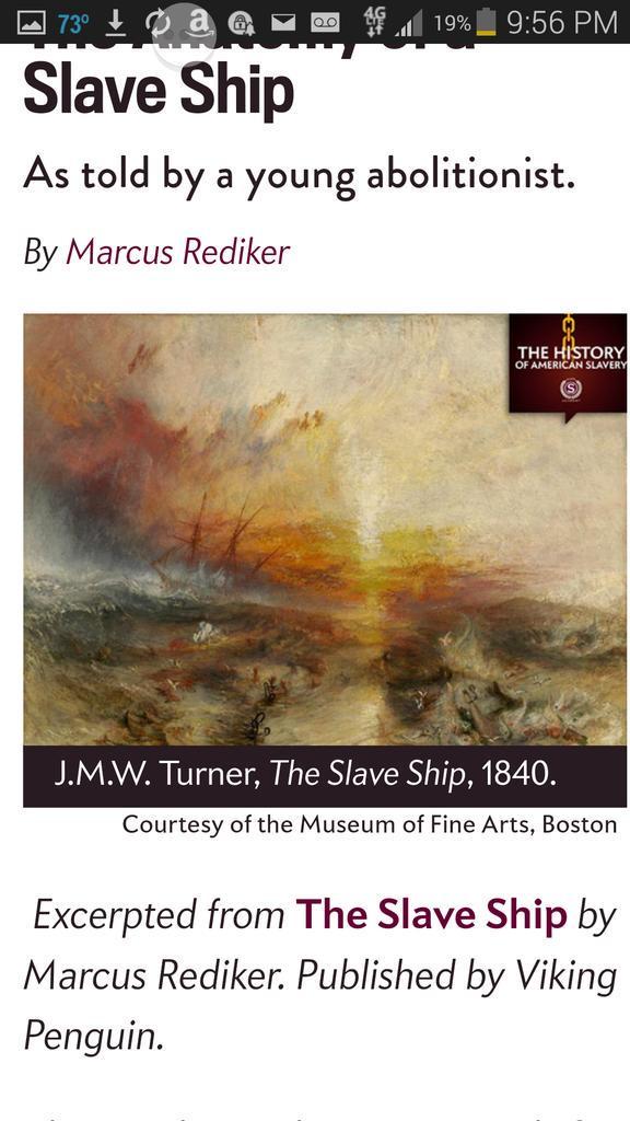 the slave ship j m w turner Episode 18: jmw turner's the slave ship (1840) tamar avishai may 24, 2017  full text of jmw turner's fallacies of hope monica the podcast episode 18 transcript.