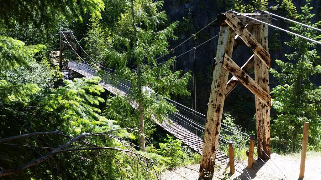 Suspension bridge near Mt. St. Helens in Washington #lines #curves #mathphoto15 http://t.co/Vsv1A7ZUPM