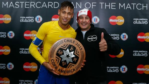 Neymar awarded man of the match vs Peru