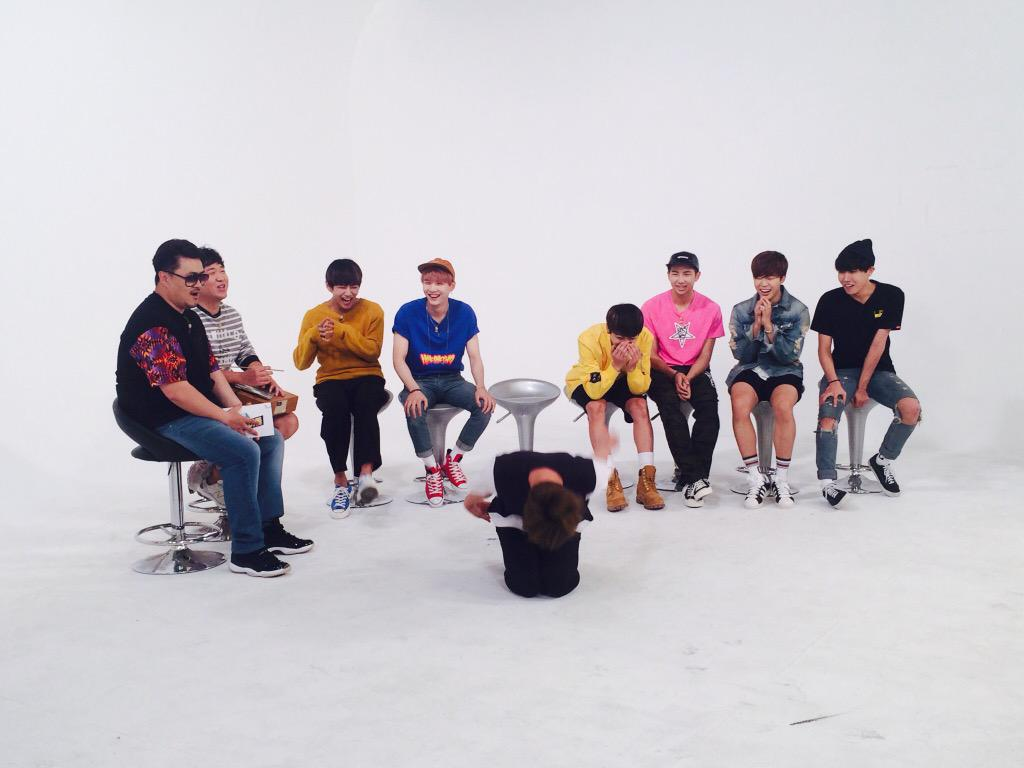 Picture] BTS at Weekly Idol Twitter [150615]