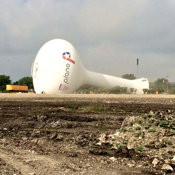 Some days I feel like this Plano water tower. #ivefallenandIcantgetup http://t.co/HtdGdmxOf8