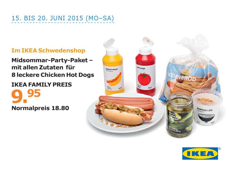 ikea schweiz on twitter yeah extra f r midsommar kommt das hotdog party paket mit allen. Black Bedroom Furniture Sets. Home Design Ideas