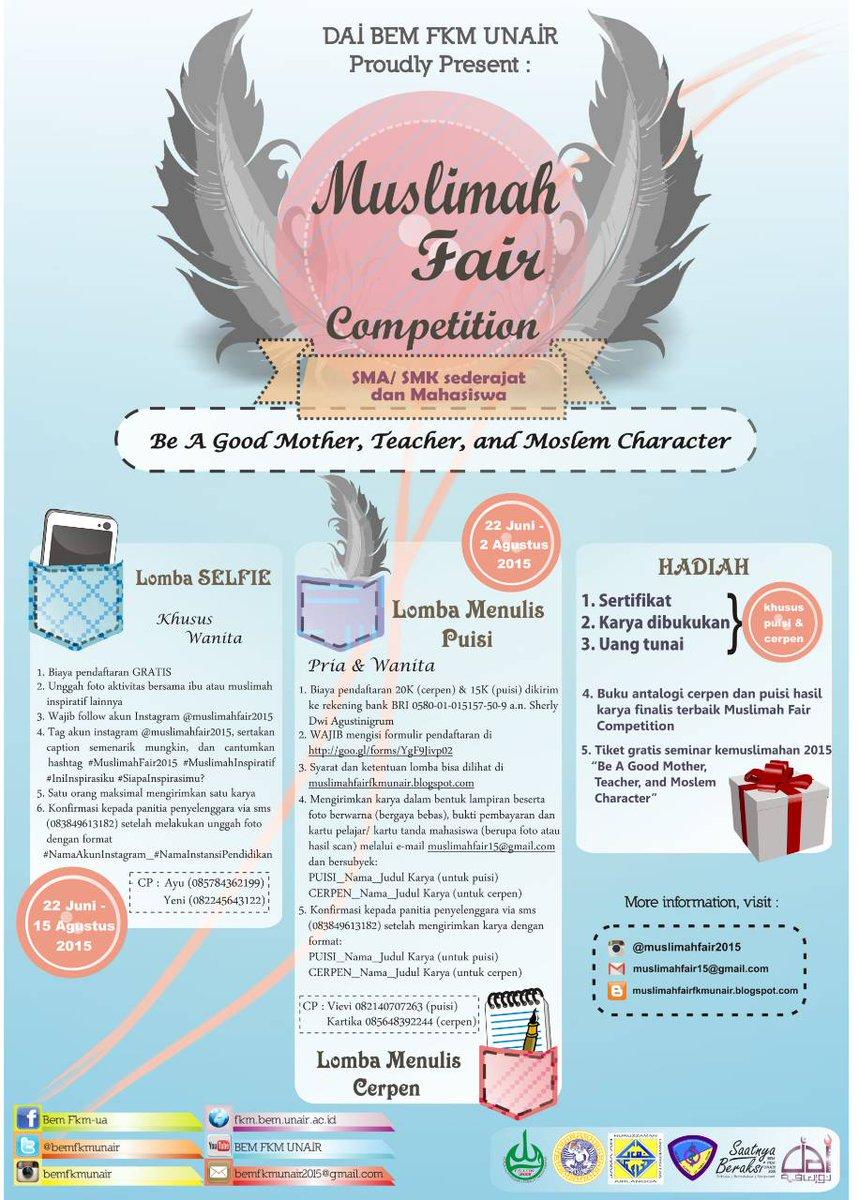 Lomba Cerpen, Puisi, dan Selfi Muslimah Fair
