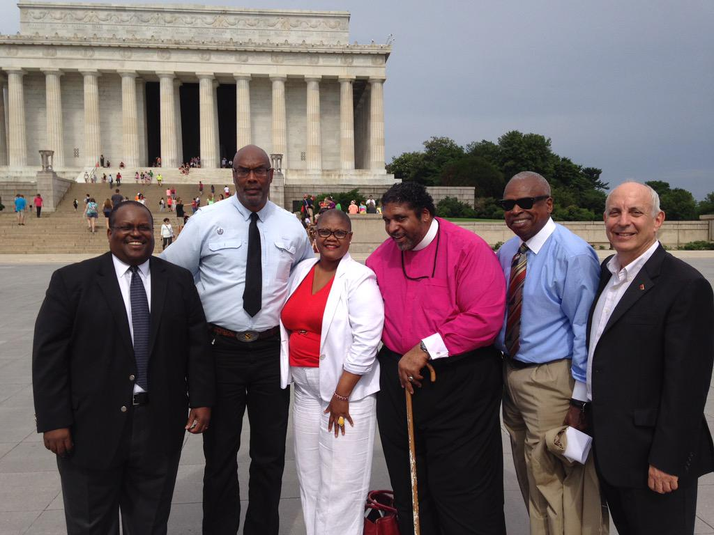 Sierra Club President Aaron Mair with #JusticeSummer partners from @CWAUnion @NAACP & more. http://t.co/Wt03qq7L38
