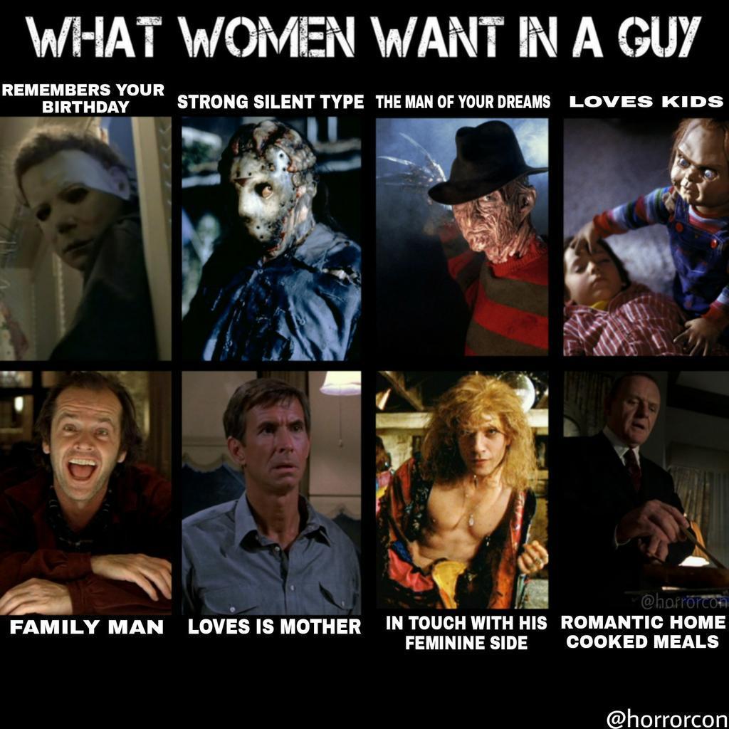 Horror Con On Twitter What Women Want In A Guy Httpstco