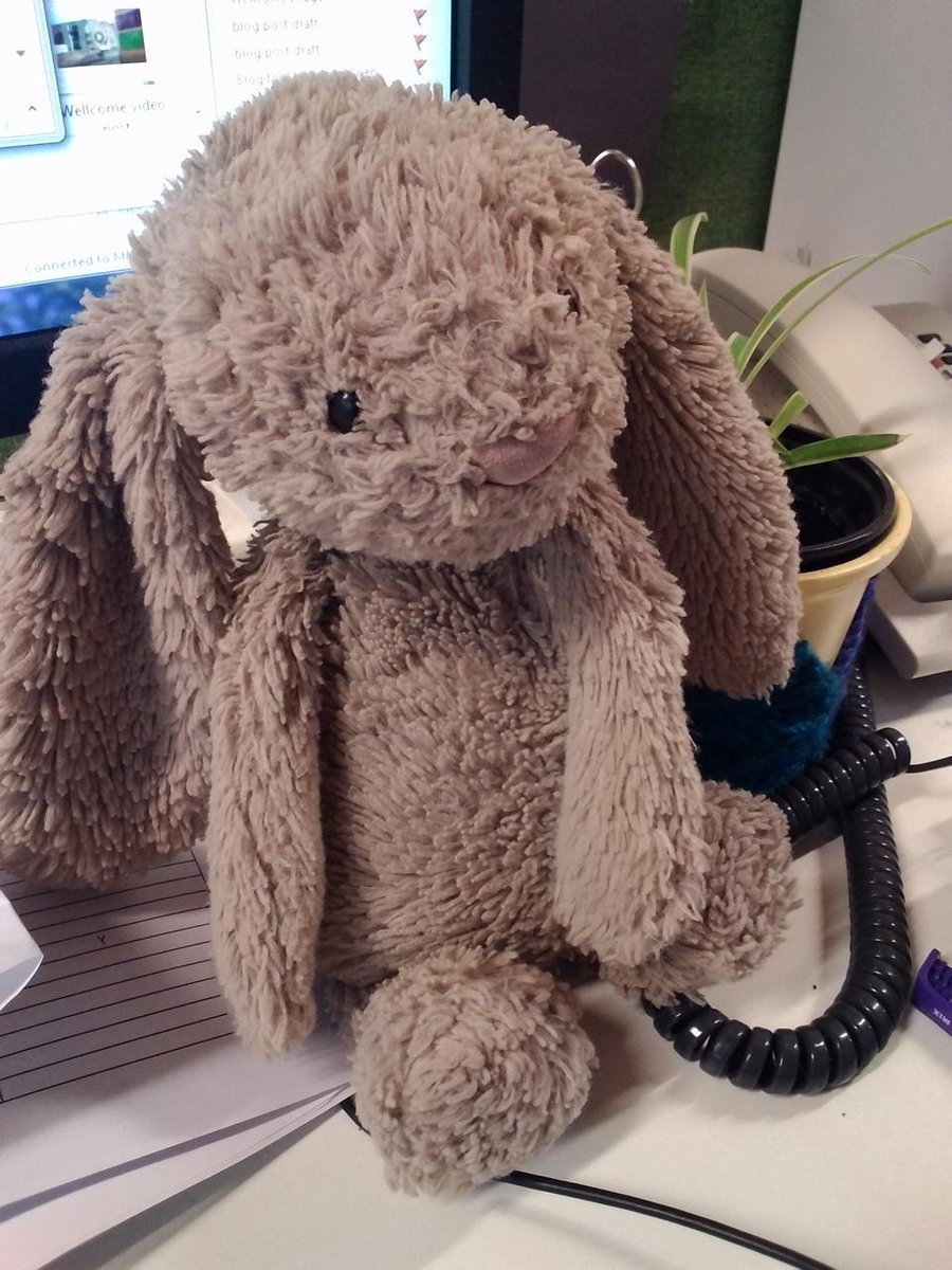 """Help Twitter! I got lost at the museum!"" Has anyone mislaid this well-loved rabbit over the weekend? Please RT http://t.co/zJMEipqFy4"